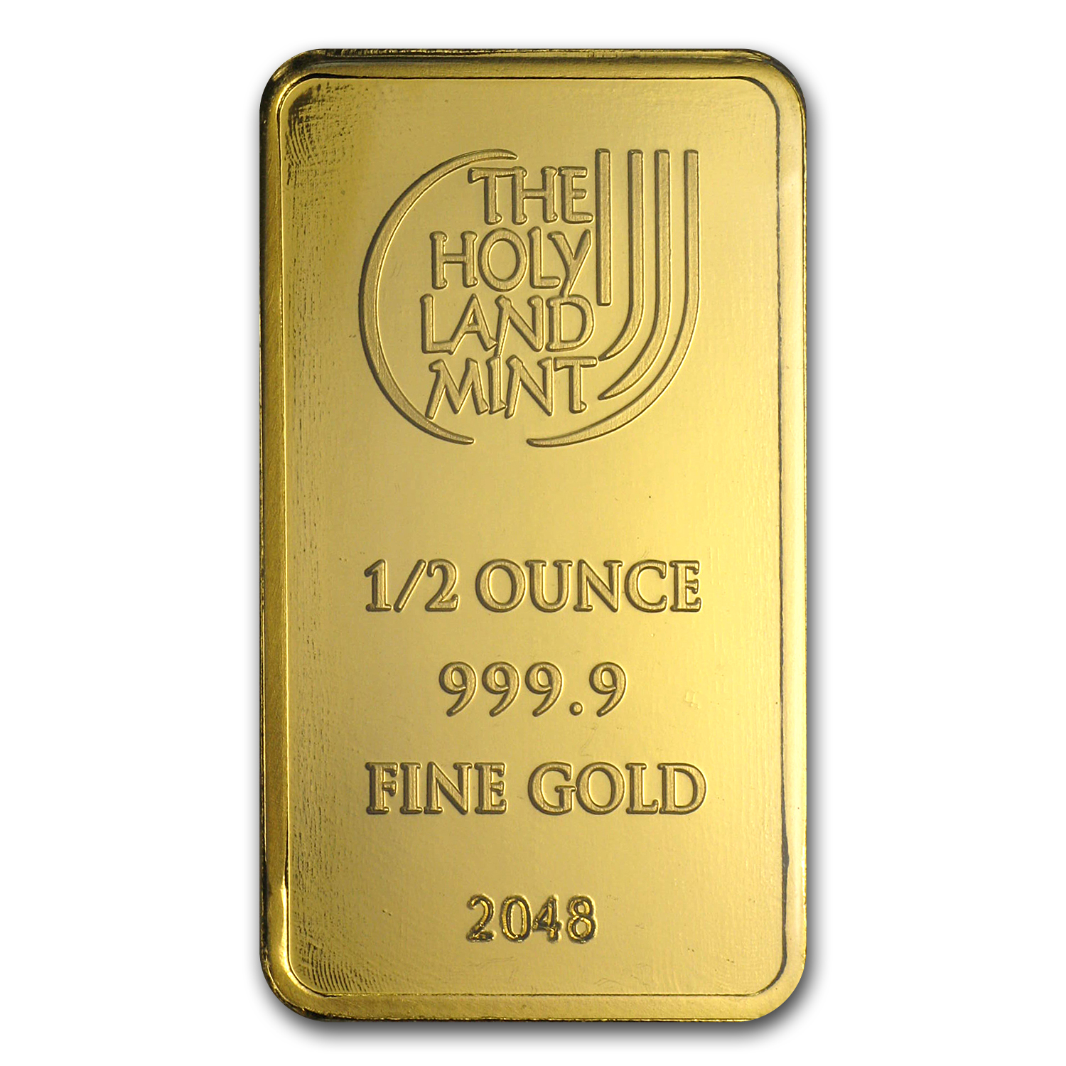 1/2 oz Holy Land Mint Dove of Peace Gold Bar (In Assay)
